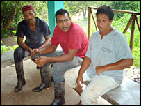 Trina Arevalo and Jose Lugo with farm worker