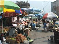 A market in Kosovo