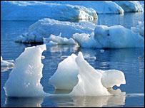 Floating ice (BBC)