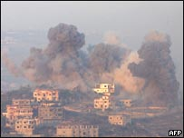 دخان يتصاعد من معارك عيتا-الشعب