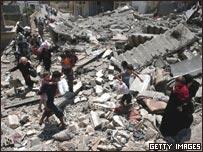 الدمار في بنت جبيل