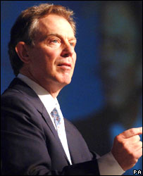 Tony Blair speaking to the World Affairs Council