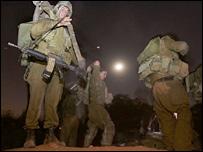Israeli troops prepare for a mission in Lebanon