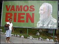 Poster of Fidel Castro in Havana