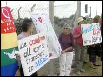 Protesters at RAF Mildenhall