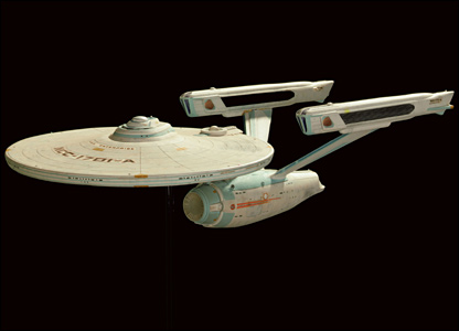 Model of the Starship Enterprise-A