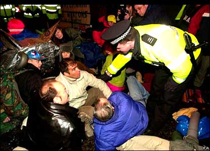 Tommy Sheridan is among protesters arrested outside Faslane naval base