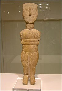 A female figurine from the island of Naxos (2800 - 2300 BC)