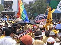 Reader Sue Dinnem captured the massive street protests on Sunday