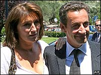 Nicholas Sarkozy and his wife Cecilia