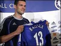 Chelsea signing Michael Ballack has been handed the number 13 shirt