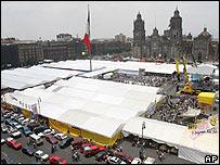 Tiendas en la Plaza del Zócalo de Ciudad de México
