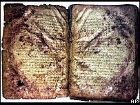 Páginas del palimpsesto de Arquímedes
