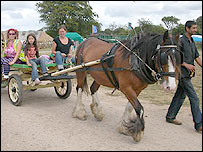 Horse-drawn transport at the 2006 BGG