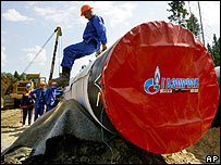 Pipeline construction in eastern Russia