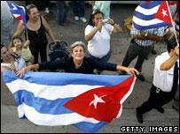 Cuban-Americans celebrate news of Fidel Castro's illness in Miami