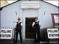 A polling station in Coventry during the local elections in May 2006