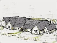 Drawing courtesy Bristol City Council: Kings Weston Roman villa