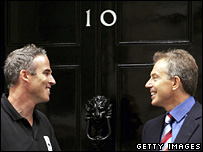Lewis Pugh and Tony Blair