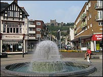 Market Square in the centre of Dover