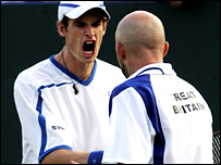 Andy Murray and Jamie Delgado