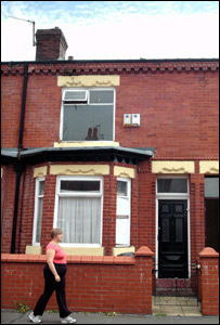 The house in Gorton - pic courtesy of MEN syndication