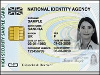An example of an ID card as it could look in the UK