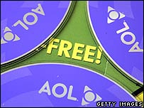AOL logos on CDs