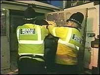Drunk being arrested