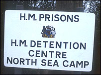 North Sea Camp sign
