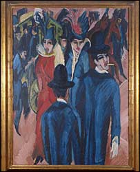 Strassenszene, Berlin by Ernst Ludwig Kirchner