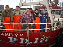Amity crew members featured in the TV series Trawlermen