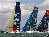 Yachts racing in the Volvo Ocean Race (Photo: Chris Ison/PA)