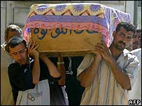 A funeral in Baquba on Friday