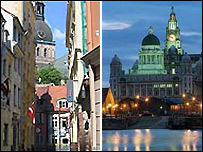 Riga and Liverpool