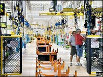 GM production line in Michigan