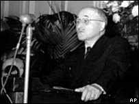 File photograph (1952) of Jean Monnet European Coal and Steel Community secretary general