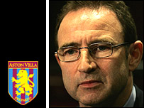 Martin O'Neill is the new manager of Aston Villa