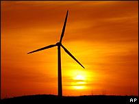 Energía eólica en China.