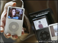 Ipod showing Desperate Housewives, Getty
