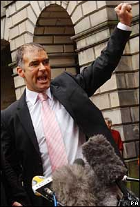 Tommy Sheridan outside court