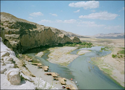 View of the Tigris River from the citadel of Hasankeyf (copyright Maggie Ronayne)