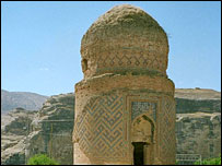 Medieval Zeynel Bay tomb in Hasankeyf, Turkey