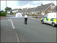 Police guard at location where Mr Barwick was found