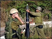 Israeli troops fire mortars into southern Lebanon