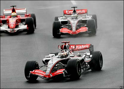 Kimi Raikkonen leads the way in Hungary