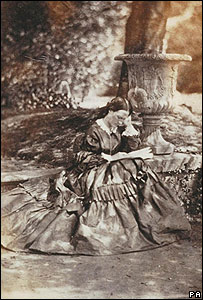 Florence Nightingale reading in the grounds of her family home, Embley Park, Hampshire
