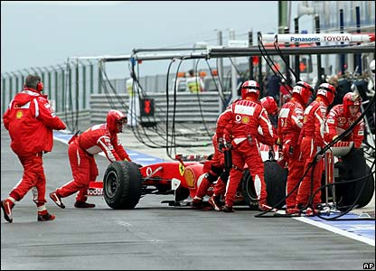 Michael Schumacher retires