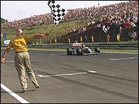 Damon Hill won his first Grand Prix in Hungary too