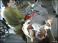 A man injured in the Hezbollah rocket attack on Kfar Giladi on Sunday